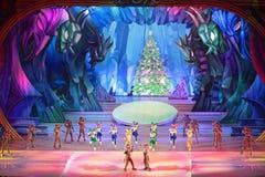 儿童的圣诞节展示 免版税库存图片