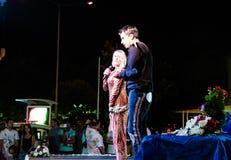 儿童的在赖买丹月节日的剧院合奏 库存照片