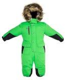 儿童的孩童用防雪装秋天 免版税库存图片
