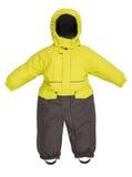 儿童的孩童用防雪装秋天 免版税图库摄影