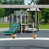 儿童的室外公园作用操场 免版税图库摄影