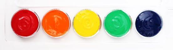 儿童的彩虹油漆 库存图片