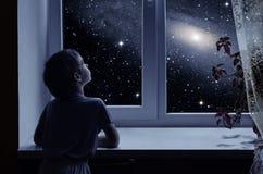 儿童的想象力 库存图片
