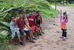 儿童的柬埔寨 免版税库存照片
