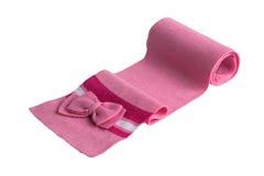 儿童的桃红色围巾 图库摄影