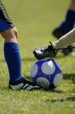 儿童的橄榄球足球 免版税库存照片