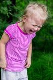 儿童的歇斯底里症的发作案 库存图片