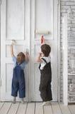 儿童的油漆 库存照片