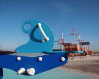 儿童的游乐场玩具。 免版税库存图片