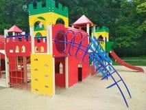 儿童的游乐场,卡梅涅茨波多尔斯基,乌克兰 免版税库存图片
