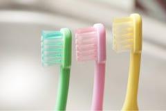 儿童的牙刷 图库摄影