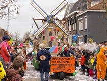儿童的狂欢节在荷兰 免版税库存照片