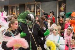 儿童的狂欢节在荷兰 免版税库存图片