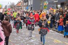 儿童的狂欢节在荷兰 库存图片