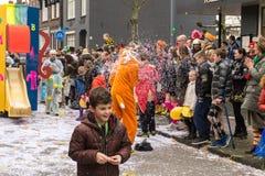 儿童的狂欢节在荷兰 图库摄影