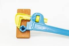 儿童的玩具工具 免版税库存图片