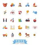儿童的玩具平的设计隔绝了象传染媒介集合 库存照片