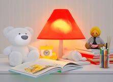 儿童的童话为夜 免版税库存照片