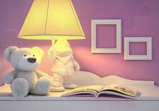 儿童的童话为夜 库存图片