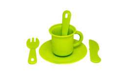 儿童的绿色商品 免版税库存图片