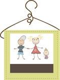 儿童的衣物商标 库存例证
