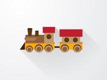 儿童的颜色玩具火车 库存图片