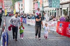 儿童的马拉松在奥斯陆,挪威 免版税图库摄影