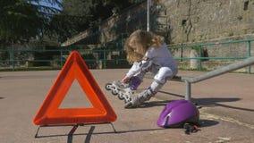 儿童的麻烦在公园 影视素材