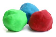 儿童的黏土作用 免版税库存照片
