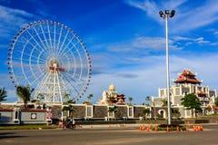 儿童的主场比赛在市岘港市 免版税库存图片