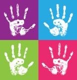 儿童的handprint 库存照片