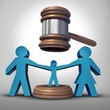 儿童监护权争斗 免版税库存照片