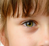 儿童眼睛特写镜头 免版税库存照片