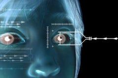 儿童眼睛虹膜扫描 免版税库存照片