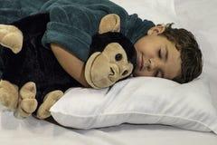 儿童睡觉 库存照片
