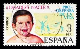 儿童福利,民事价值serie,大约1975年 免版税库存图片