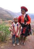 儿童秘鲁传统 免版税库存照片