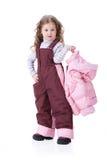儿童穿衣时兴 免版税库存图片