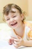 儿童笑 免版税图库摄影