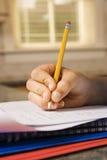 儿童笔记本文字 免版税库存图片