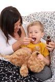 儿童糖浆 库存图片