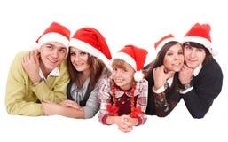 儿童系列愉快的帽子圣诞老人 免版税库存图片