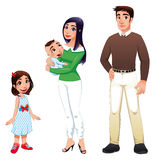 儿童系列父亲人母亲 库存照片