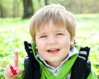 儿童纵向微笑 免版税库存照片