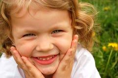 儿童纵向微笑 库存图片