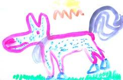 儿童绘画 库存图片