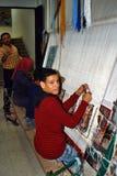 儿童编织的地毯 免版税库存图片