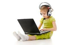 儿童耳机 免版税图库摄影