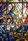 儿童耶稣・玛丽贞女 库存图片