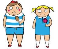 儿童肥胖超重 免版税库存图片